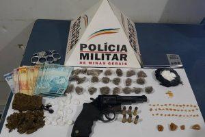 Plantão PM: Drogas, dinheiro, armas e prisões feitas no fim de semana