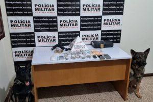 Operação da PM e PC apreende drogas em Lajinha
