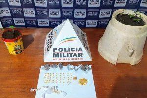 Drogas apreendidas no bairro Santa Luzia e na Vilanova