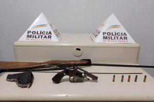 PM em destaque: Armas e drogas apreendidas em Manhuaçu e região