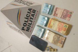 Plantão PM: Polícia recupera 9 mil reais roubados em Alto Caparaó;  Menor apreendido com drogas