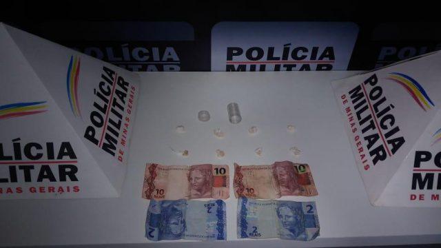 Drogas apreendidas e prisão em Manhuaçu no Plantão da PM