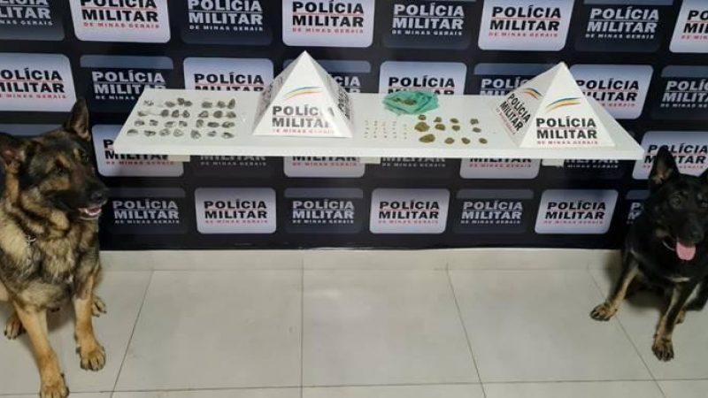 Plantão PM: Drogas apreendidas e prisões em Manhuaçu