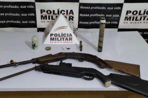 Plantão PM: Armas apreendidas, prisão e roubo na região