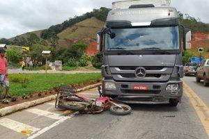 Acidente mata condutor de moto em Reduto