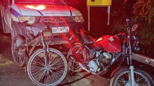 Plantão PM: Recuperada motocicleta furtada e polícia procura autor