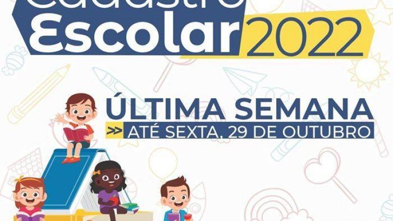 Manhuaçu: Última semana para Cadastramento Escolar 2022 das escolas municipais